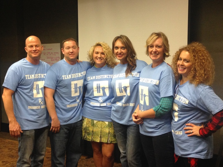 Team Distinction:  Raising The Bar T-Shirt Photo