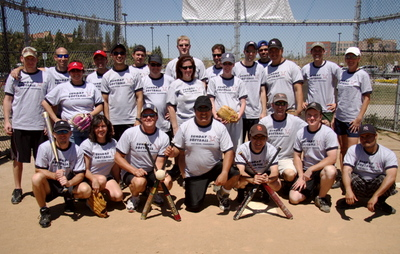 San Diego Sunday Softball Group T-Shirt Photo