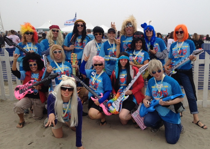 Team Rock 'n' Roll 'n' Run, Finish Line On The Beach T-Shirt Photo