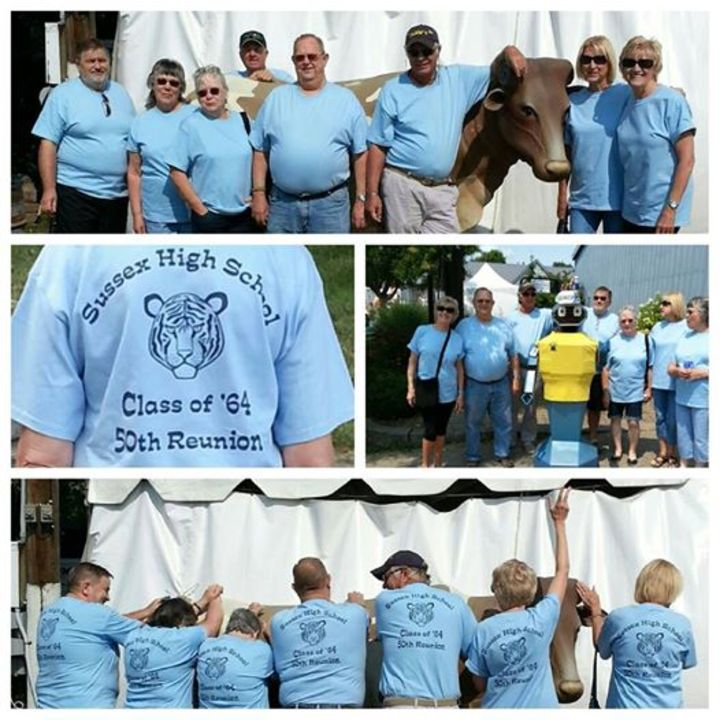 Sussex High School Class Of '64 50th Reunion T-Shirt Photo