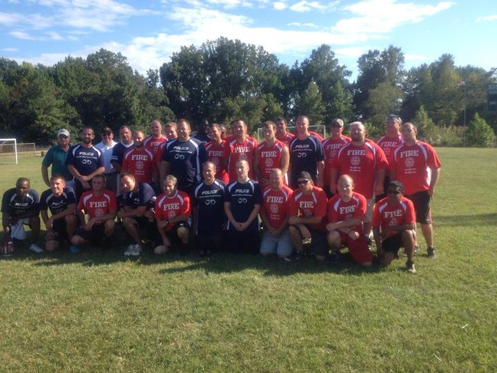 1st Annual Guns & Hoses Football Game T-Shirt Photo