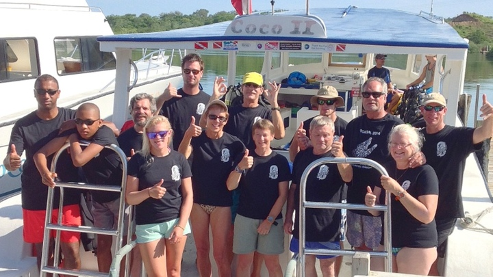 Summer Dive Trip To Roatan, Honduras T-Shirt Photo