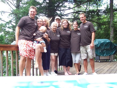 4 Generation Family Triathlon T-Shirt Photo
