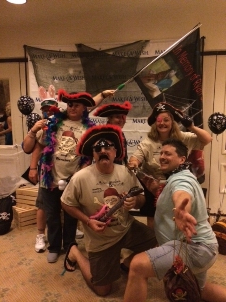 Partying Pirates For Make A Wish T-Shirt Photo