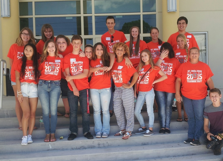 Mt Dora High Showing Off Their Custom Ink Shirts At Yearbook Academy T-Shirt Photo