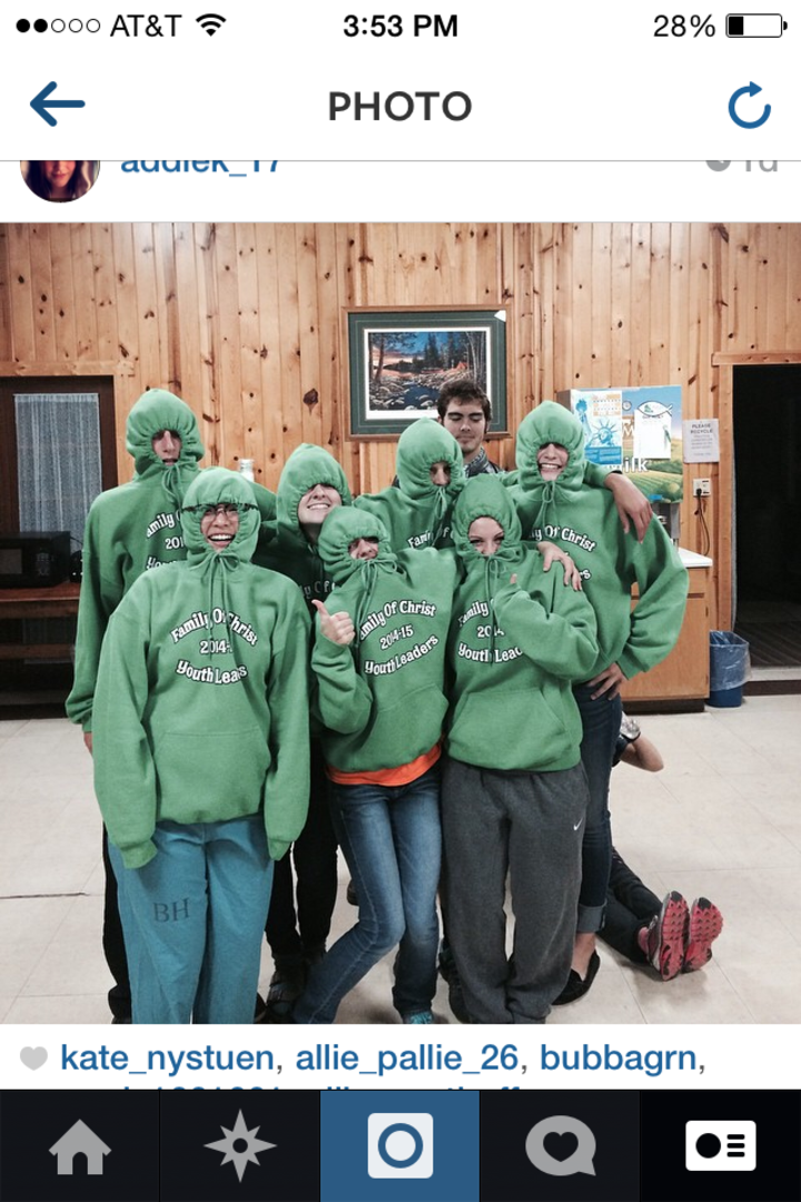 "Family Of Christ Youth Leaders...New ""Hoodies""! T-Shirt Photo"