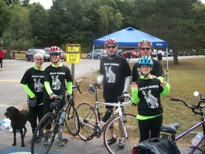 Team Zebra Rides At Pedaling For Payson 2014 T-Shirt Photo