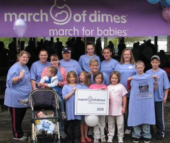 Team Tlc March For Babies 2008 T-Shirt Photo