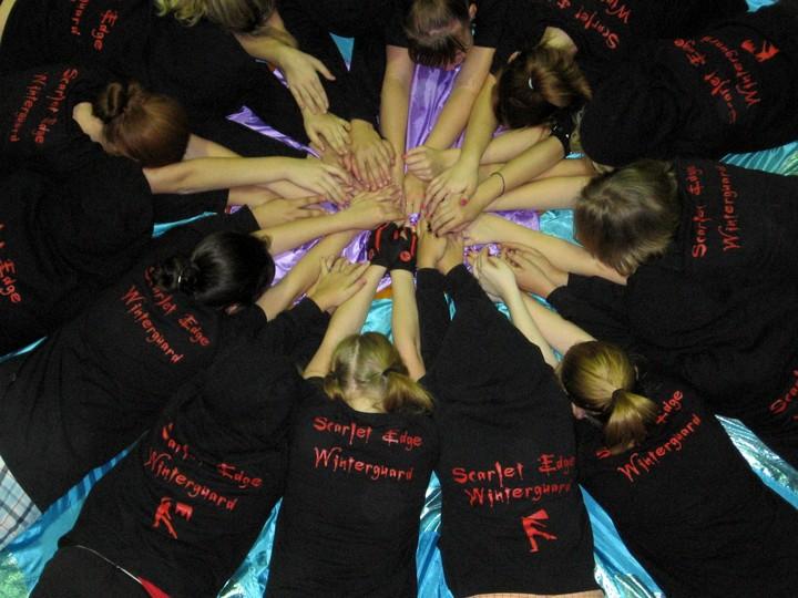 Scarlet Edge Winterguard Rocks T-Shirt Photo