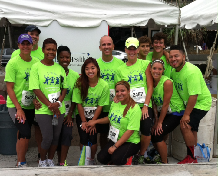 Healthy Smiles Team Runs For Children's In The Race For Every Child! T-Shirt Photo