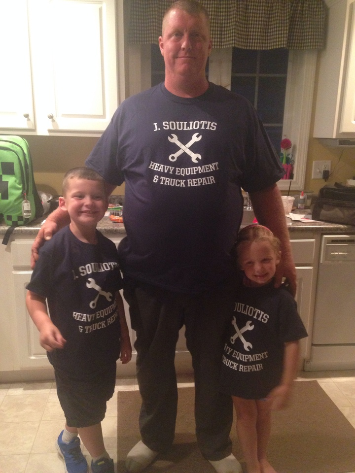 Dad And Kids T-Shirt Photo