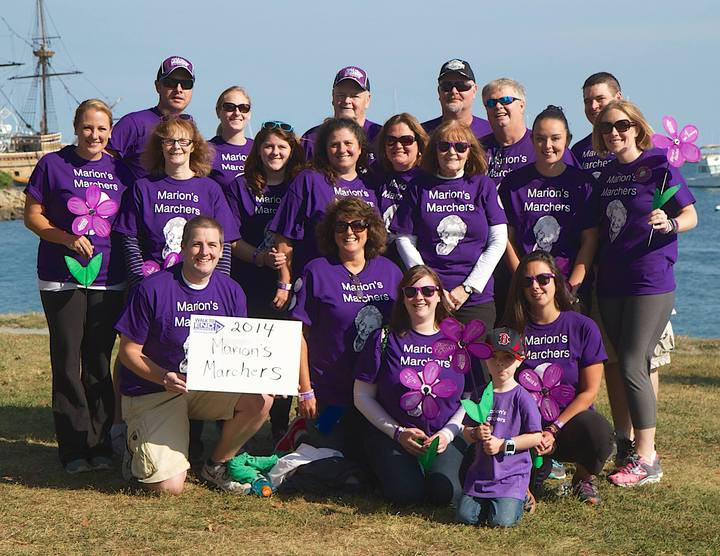 Alzheimer Walk   Marion's Marchers T-Shirt Photo