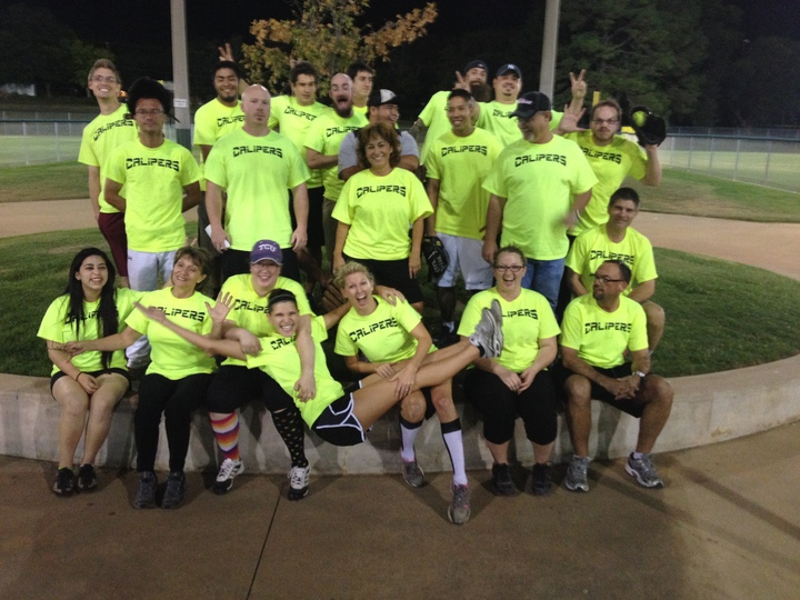 Calipers Co Ed Softball Team T-Shirt Photo