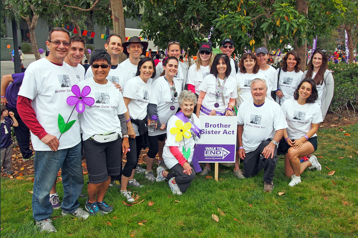 Brother Sister Act Team/Walk To End Alzheimer's T-Shirt Photo