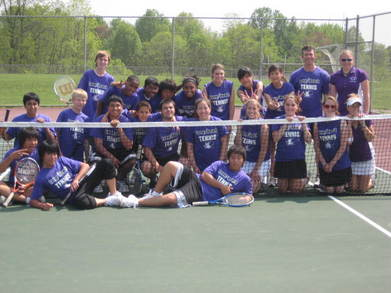 Long Reach Tennis Team T-Shirt Photo