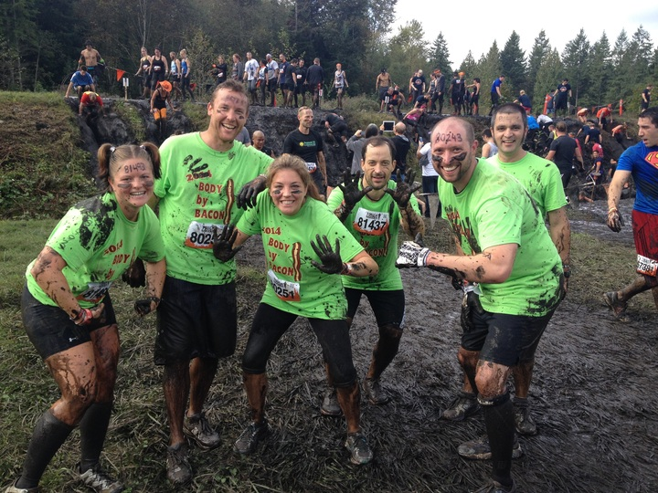 Body By Bacon Conquers The Tough Mudder! T-Shirt Photo