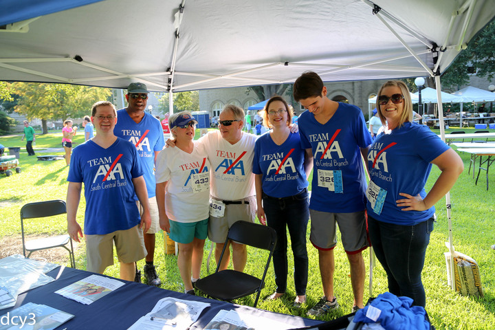 Team Axa At The Nola Blue Doo Run T-Shirt Photo