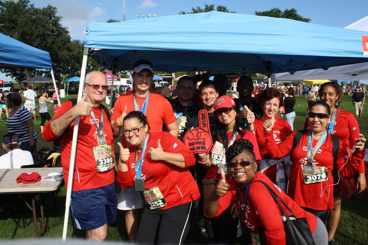 Saft Runners...Looking Cool In Our Custom Ink Shirts! T-Shirt Photo