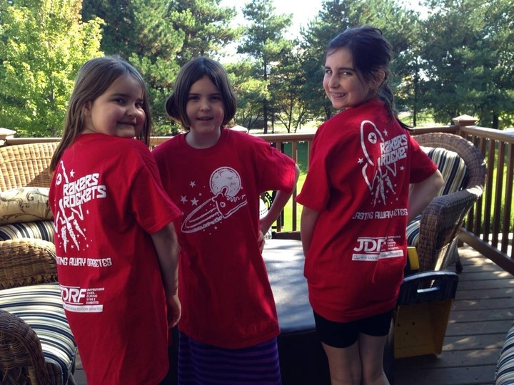 2014 Jdrf Walk Team Rakers Rockets T-Shirt Photo