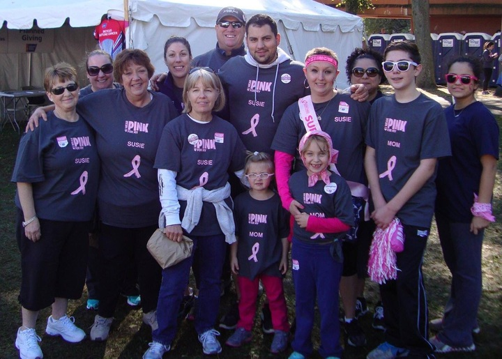 Making Strides For Breast Cancer Walk 2014 T-Shirt Photo
