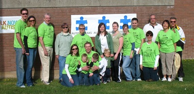 """Green Eggs And Sam"" Team For ""Walk Now For Autism"" T-Shirt Photo"
