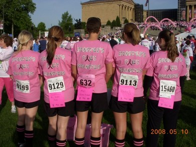 Jodster's Pink Roadsters Race For The Cure T-Shirt Photo