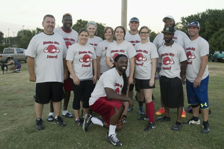 Ballz So Hard Kickball Team T-Shirt Photo