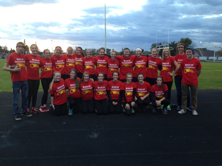 Forest Lake Sizzlin' Sophomores Girls' Powderpuff Team T-Shirt Photo