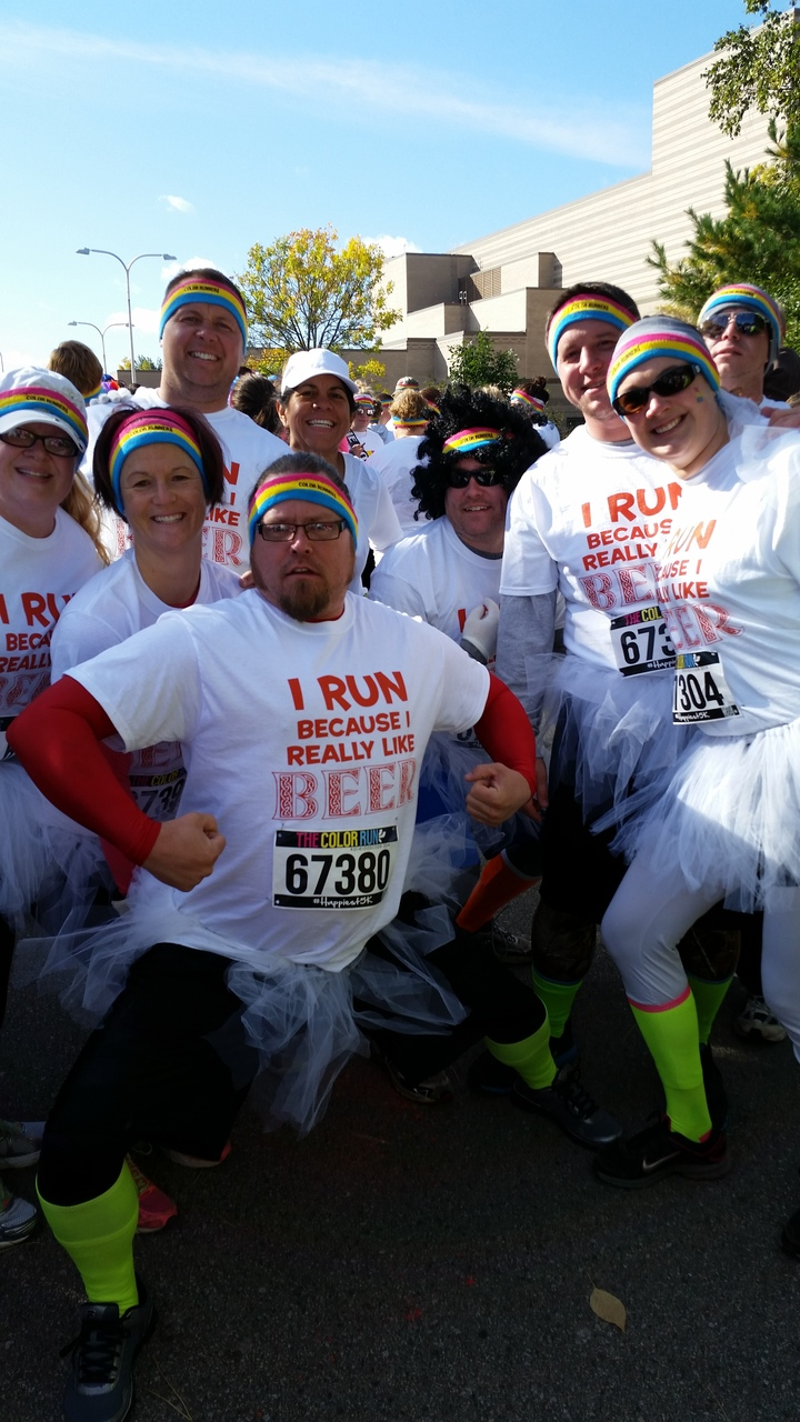 Team Figjam's Color Run 2014 T-Shirt Photo
