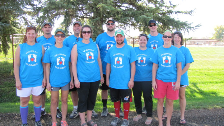 Kickball Team Supporting Nicu Babies T-Shirt Photo