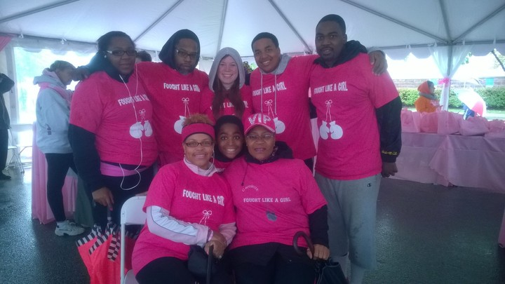 We Came To Knock Out Cancer With The Making Strides Against Breast Cancer Walk  Sponsored By The American Cancer Society T-Shirt Photo