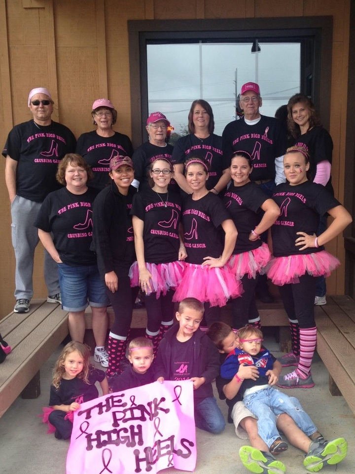The Pink High Heels Team  T-Shirt Photo