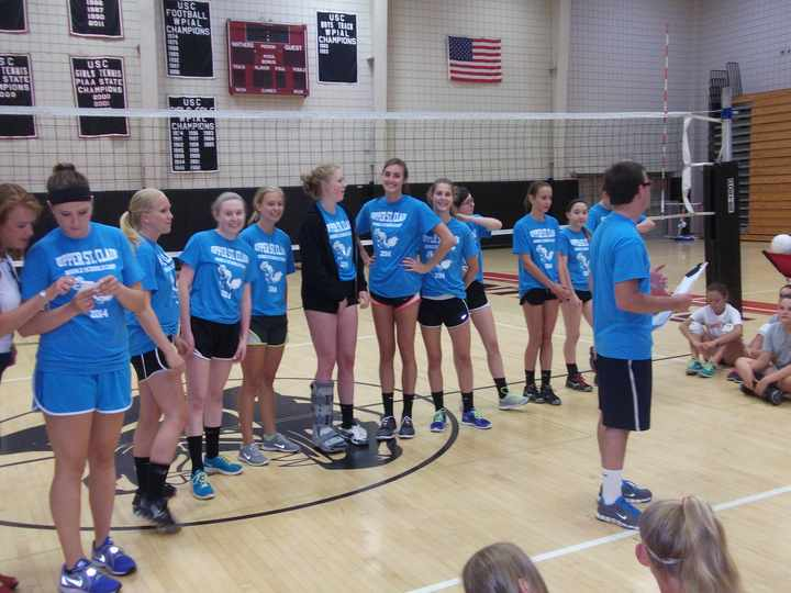 2014 Upper St. Clair H.S. Middle Schools Volleyball Camp T-Shirt Photo