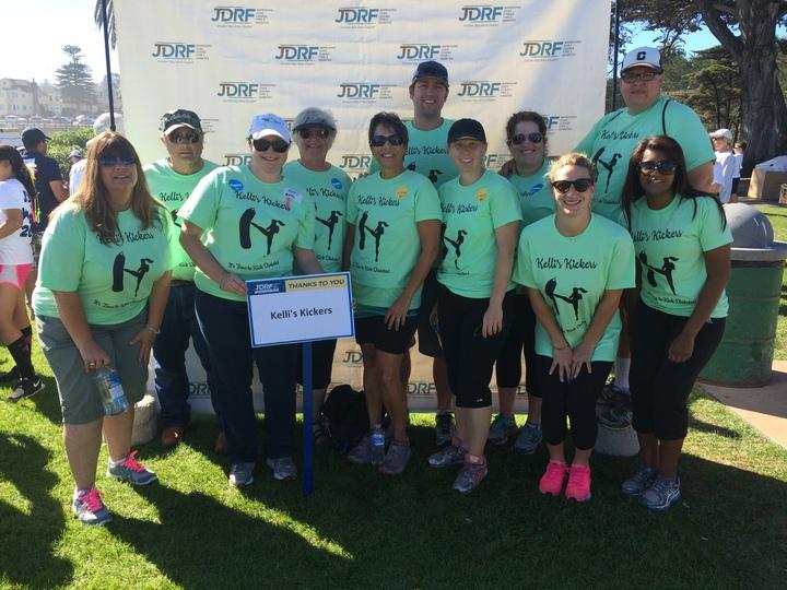 Kelli's Kickers It's Time To Kick Diabetes  T-Shirt Photo