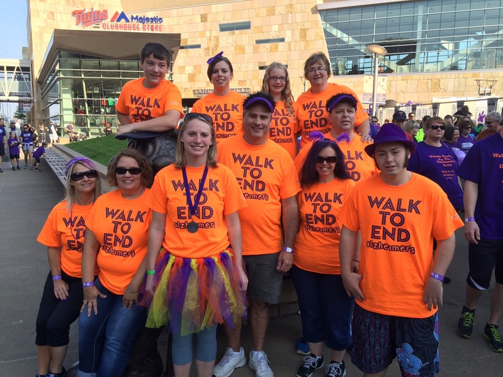 Team Irene Walks To End Alzheimer's At Target Field.  T-Shirt Photo