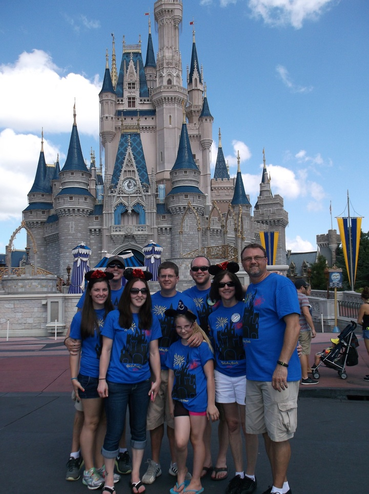 Happy Bday Wife Mom Grandma T Shirt Photo We Were At Disneyworld