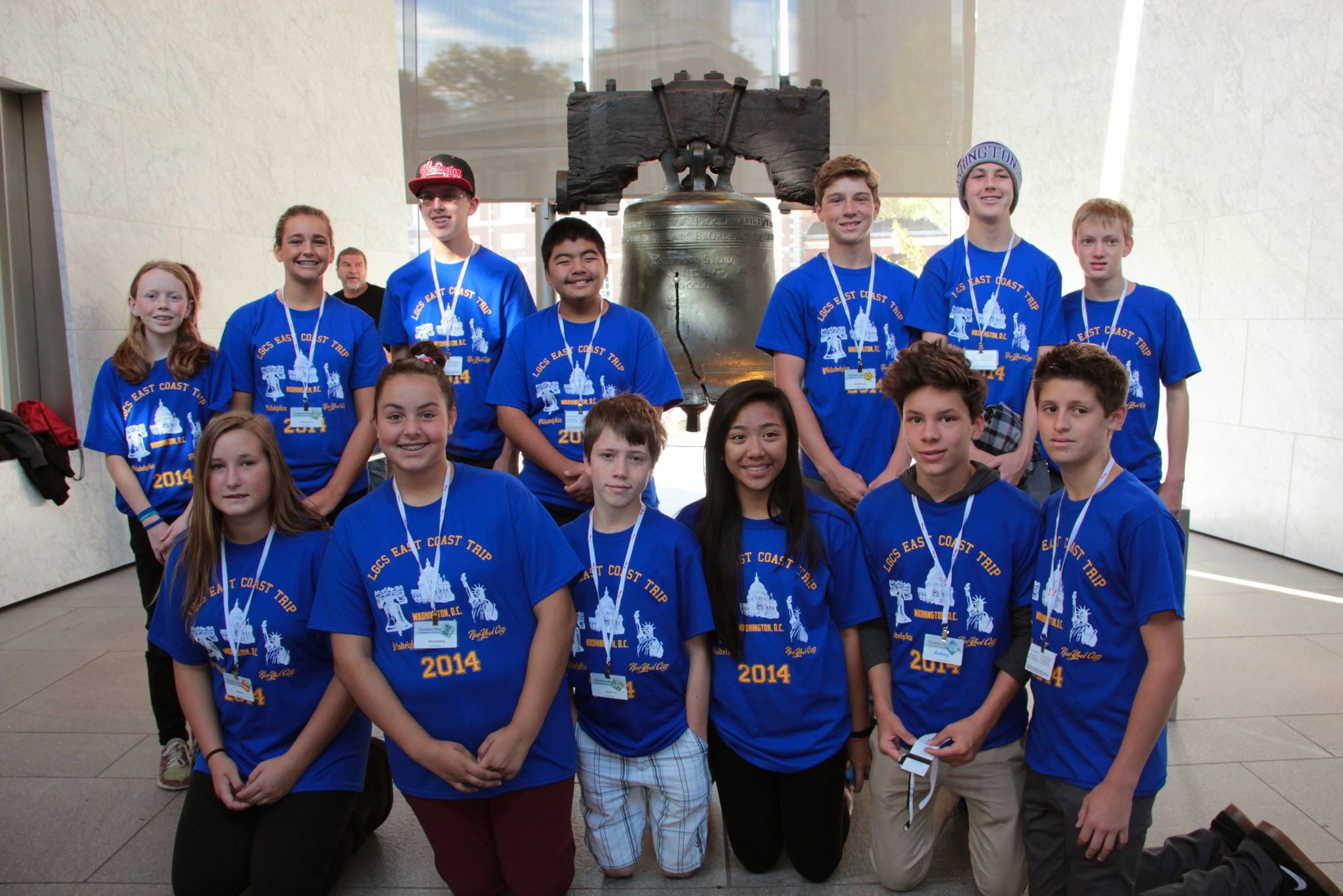 Custom T Shirts For Los Gatos Christian School East Coast Trip 2014