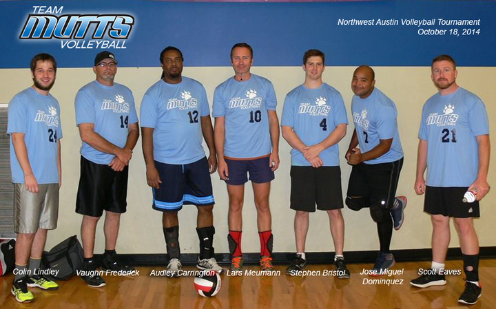 Team Mutts Men's A Volleyball Tournament Team T-Shirt Photo