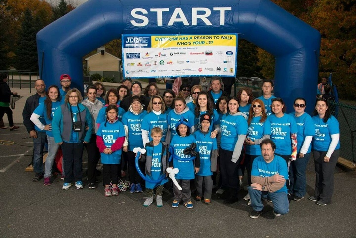 Jdrf Diabetes Walk 2014 Team Steps For Steff T-Shirt Photo