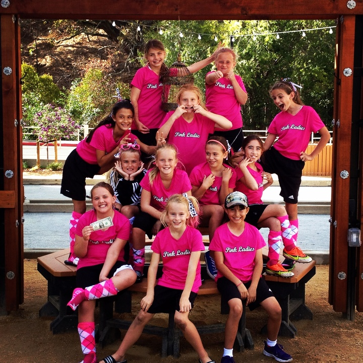 soccer tournament pink ladies t shirt photo