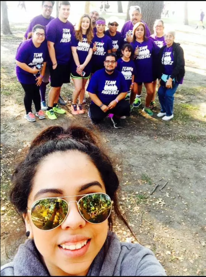 Team Paredez   Walk To End Alzheimer's T-Shirt Photo