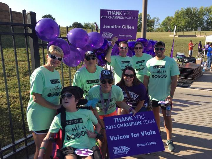 Voices For Viola, Walk To End Alzheimer's T-Shirt Photo