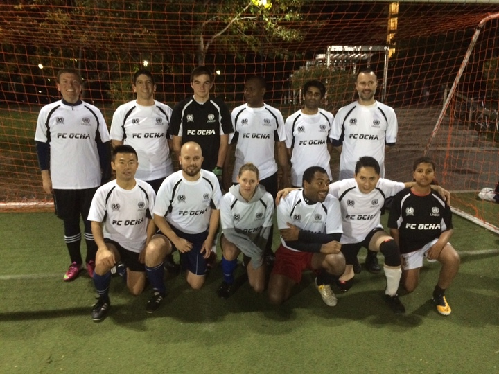 Humanitarians On The Soccer Pitch T-Shirt Photo