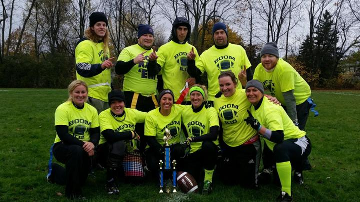 Boom Kid   Flag Football Champs! T-Shirt Photo