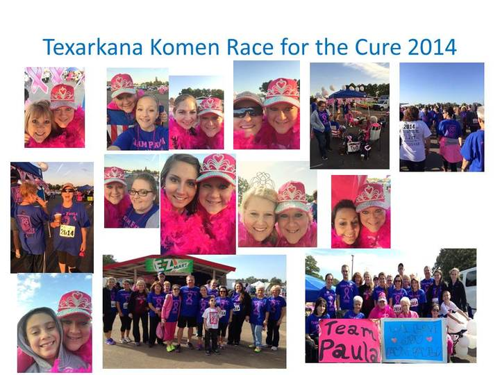"Team Paula Goes ""All Out"" For 2014 Race For The Cure!! T-Shirt Photo"