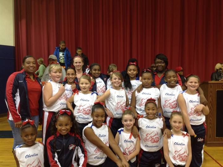 Oberlin Red Hawks Youth Cheer T-Shirt Photo