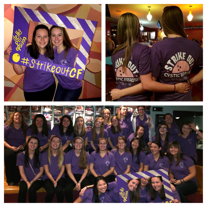 Delta Phi Epsilon #Strike Out Cf T-Shirt Photo
