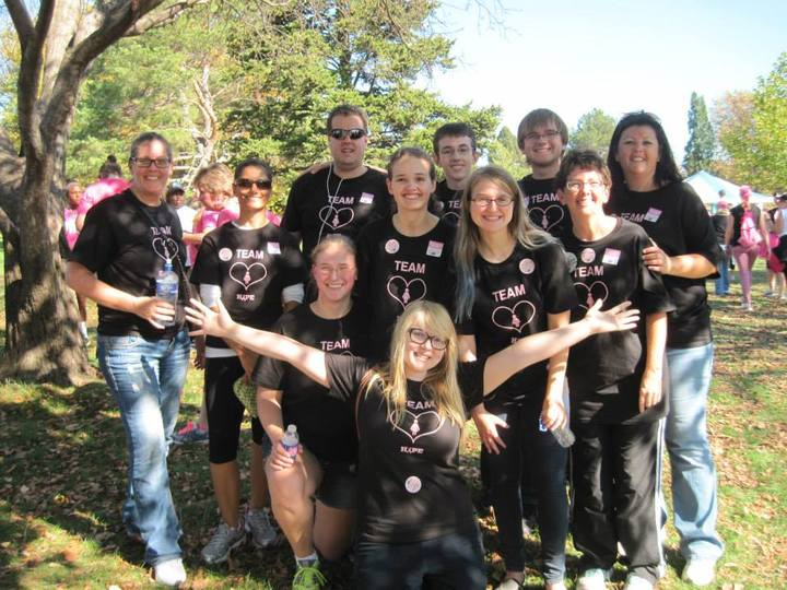 Team Hope For Fight Against Breast Cancer T-Shirt Photo