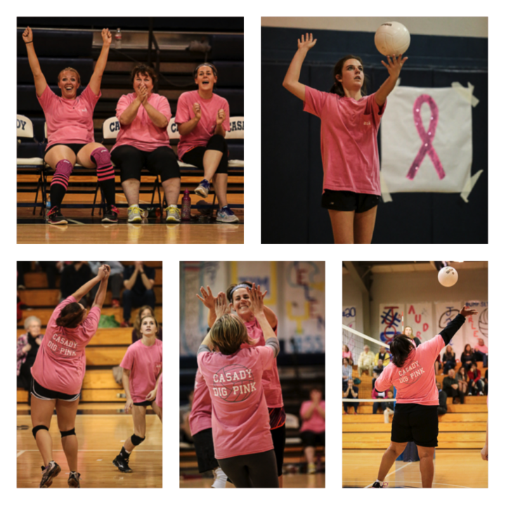 Casady Dig Pink Volleyball Game T-Shirt Photo