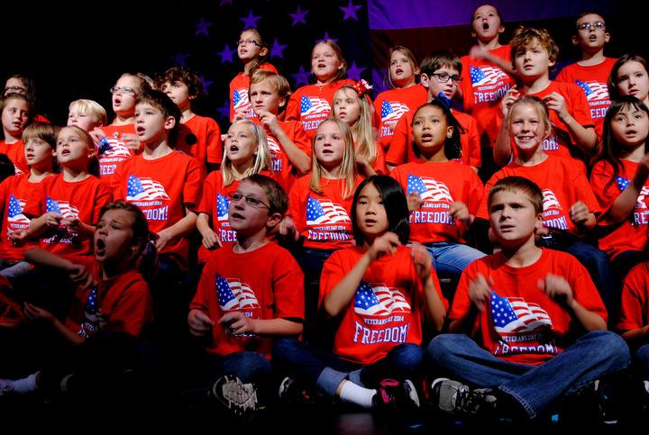 3rd Grade Veterans Program T-Shirt Photo